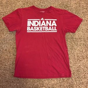 Adidas Red Indiana Basketball T-Shirt
